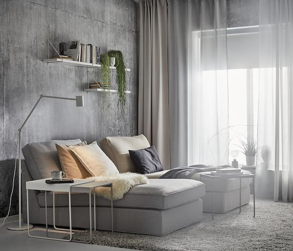 KIVIK Chaise longue, Orrsta light grey