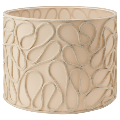 VINGMAST Abat-jour, motif cordes beige, 42 cm