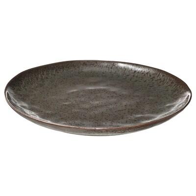 ERTAPPAD Assiette, turquoise/brun, 34 cm