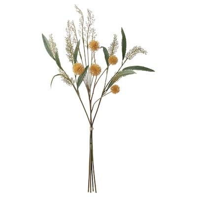 SMYCKA Bouquet artificiel, intérieur/extérieur jaune, 60 cm