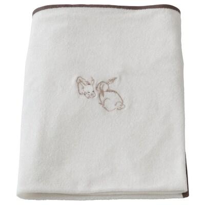 VÄDRA Fodera per materassino fasciatoio, coniglio/bianco, 74x80 cm