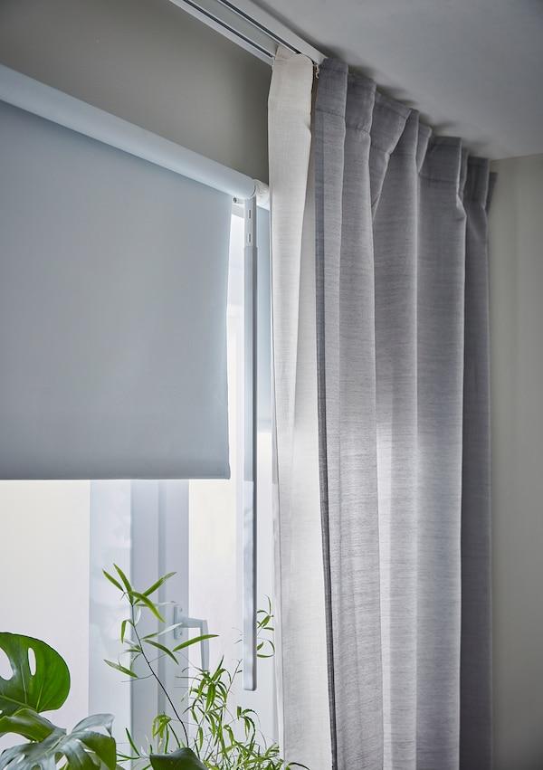 FRIDANS Verdunklungsrollo, weiß, 180x195 cm