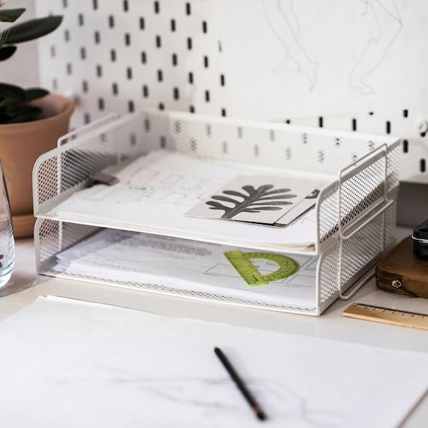DRÖNJÖNS Corbeille à courrier, blanc