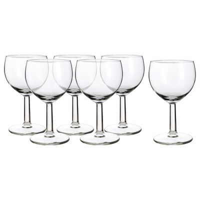 FÖRSIKTIGT Verre à vin, verre transparent, 16 cl