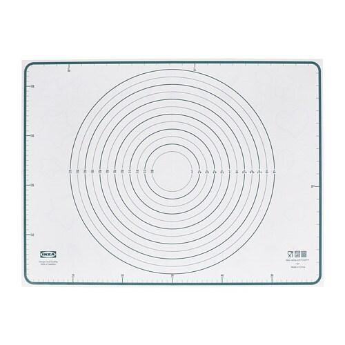 ИКЕА BAKTRADITION, Силиконовый коврик, 604.801.67, белый, бирюзовый, 61 х 46 см