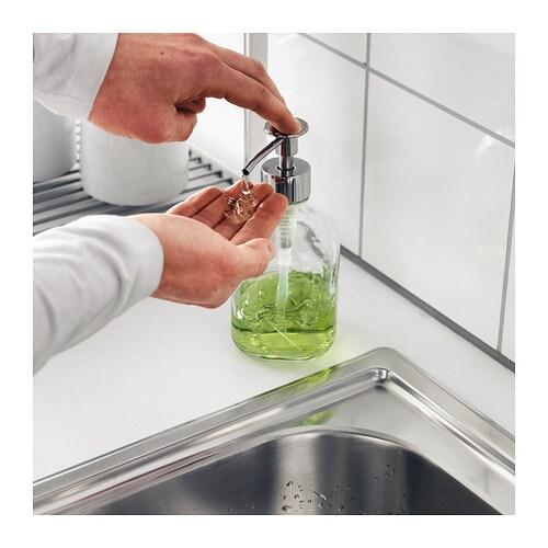 ИКЕА BESTÅENDE, Дозатор жидкого мыла, 204.893.82, прозрачное стекло, 320 мл