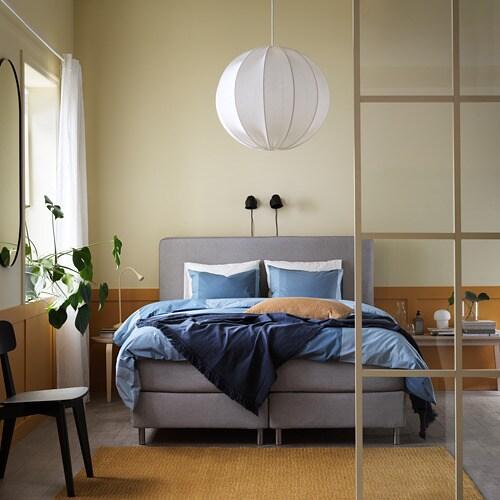 ИКЕА BRUNKRISSLA, Комплект постельного белья, 204.820.88, светло-синий, 150x200 / 50x60 см