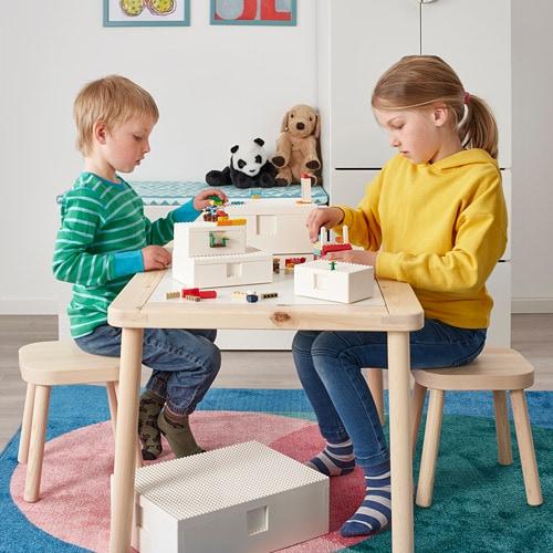 ИКЕА BYGGLEK, Коробка LEGO® с крышкой, 3 шт., 703.721.86, белый