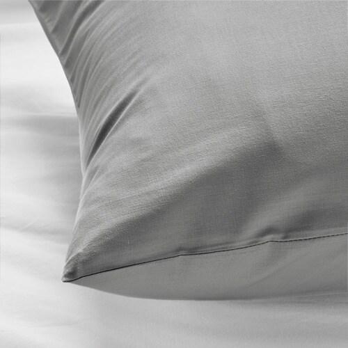 ИКЕА DVALA, Наволочка, 904.824.76, светло-серый, 50x60 см