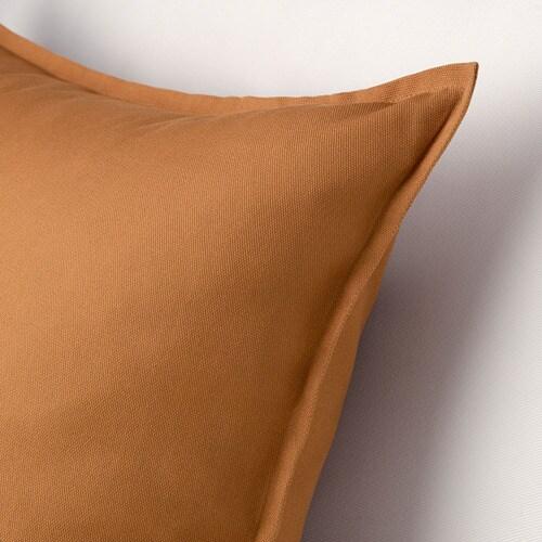 ИКЕА GURLI, Наволочка, 004.791.81, коричневато-желтый, 50x50 см