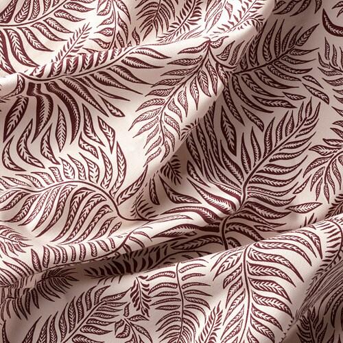 ИКЕА HAKVINGE, Ткань, 604.765.80, натуральный темно-красный, узор в виде листьев, 150 см