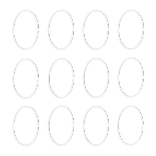 ИКЕА HASSJÖN, Кольцо для занавески для душа, 004.660.08, белый