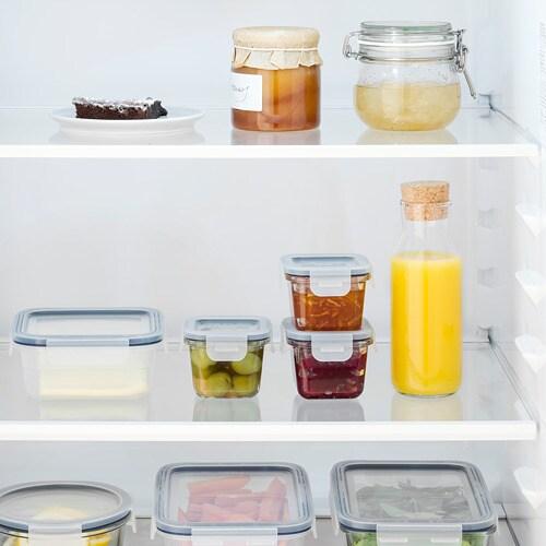 ИКЕА IKEA 365+, Контейнер для пищевых продуктов с крышкой, 804.449.46, квадрат, стекло, 180 мл