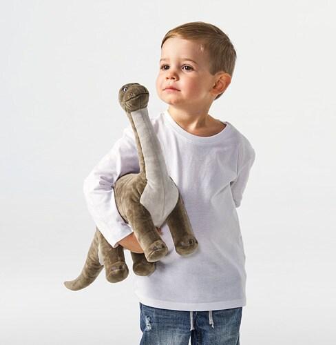 ИКЕА JÄTTELIK, Мягкая игрушка, 304.711.69, динозавр, динозавр / бронтозавр, 55 см
