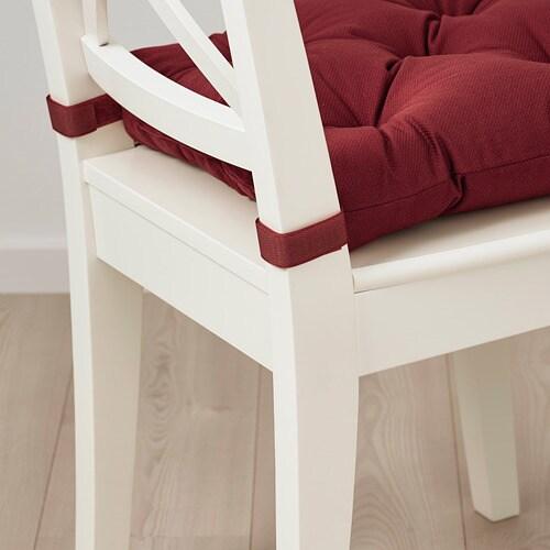 ИКЕА MALINDA, Подушка стула, 704.791.87, темно-коричневый красный, 40x38x7.0 см
