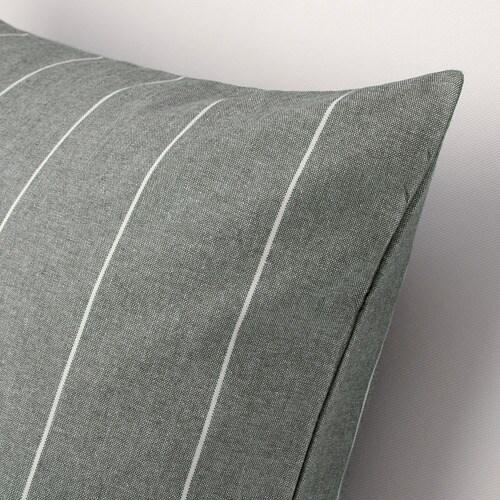 ИКЕА MILDRUN, Наволочка, 304.747.28, серый, полосатый, 50x50 см