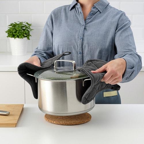 ИКЕА RINNIG, Держатель для посуды, 004.763.66, Серый, 21 х 21 см