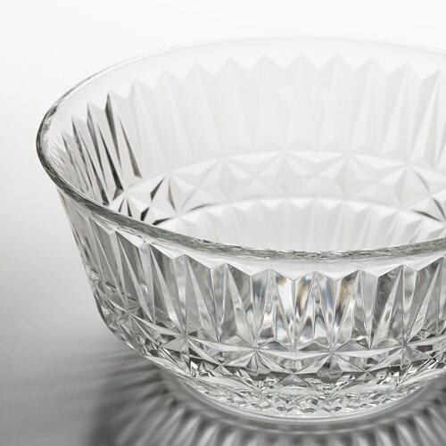 ИКЕА SÄLLSKAPLIG, чаша, 804.733.35, прозрачное стекло, узор, 15 см