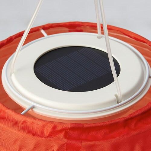 ИКЕА ИКЕА SOLVINDEN, Подвесной светильник на солнечной энергии СВЕТОДИОД, 004.865.15, экстерьер, оранжевый шар, 22 см, 004.865.15