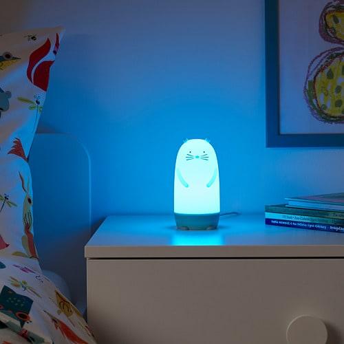 ИКЕА SPIKEN, Светодиодный ночник, 904.337.25, в виде разноцветной выдры, 13 см