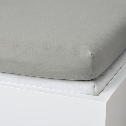 ИКЕА VÅRVIAL, Простыня с резинкой для дивана, 904.831.74, светло-серый, 80x200 см