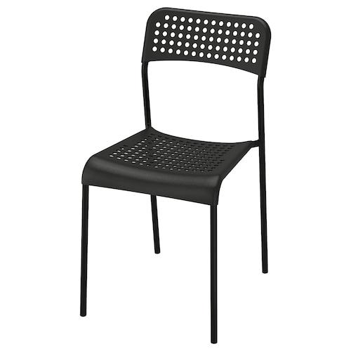 ADDE krzesło czarny 110 kg 39 cm 47 cm 77 cm 39 cm 34 cm 45 cm