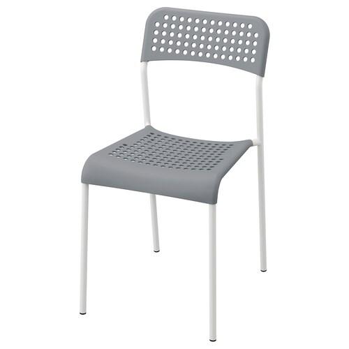 ADDE krzesło szary/biały 110 kg 39 cm 47 cm 77 cm 39 cm 34 cm 45 cm