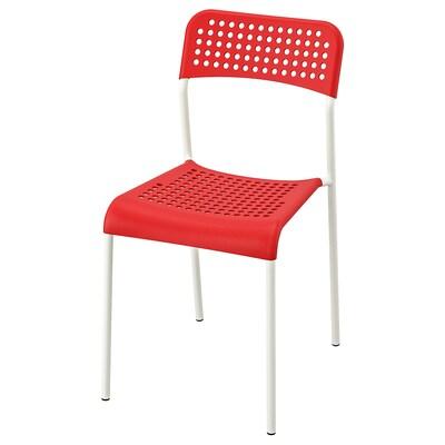 ADDE Krzesło, czerwony/biały