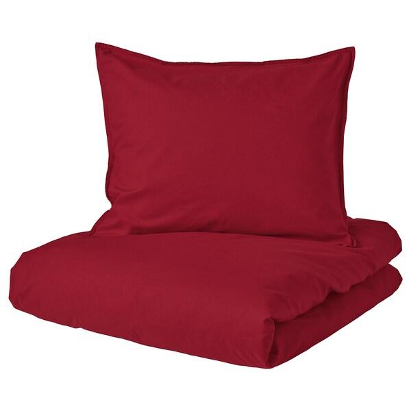 ÄNGSLILJA komplet pościeli czerwony 125 /inch² 1 szt. 200 cm 150 cm 50 cm 60 cm