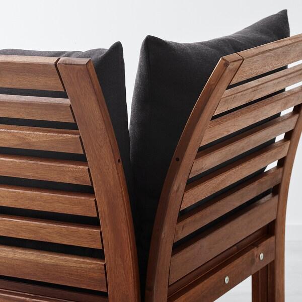 ÄPPLARÖ 3-osobowa sofa modułowa, zewn brązowa bejca/Hållö czarny 223 cm 80 cm 78 cm 45 cm 36 cm