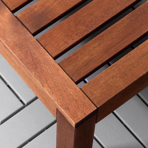 ÄPPLARÖ Stół/sekcja stołek, ogr., brązowa bejca, 63x63 cm