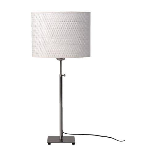 ALÄNG Lampa stołowa , niklowano, biały Minimalna wysokość: 68 cm Maksymalna wysokość: 81 cm / 80 cm Długość kabla: 206 cm
