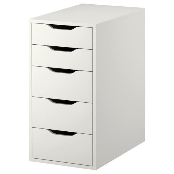 ALEX Komoda, biały, 36x70 cm