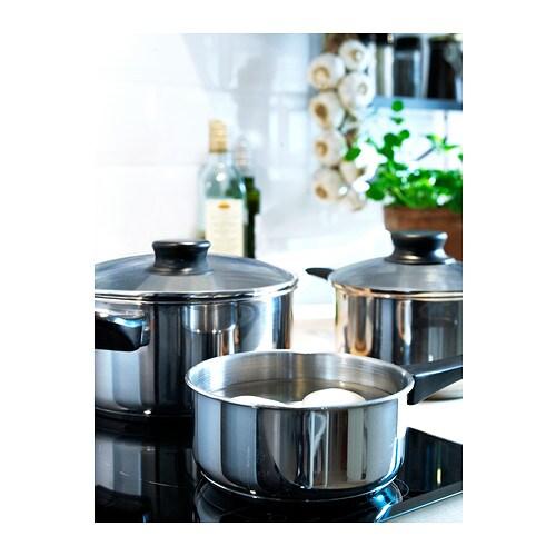 АННОНС Набор кухонной посуды, 3 предметa, стекло, нержавеющ сталь-3