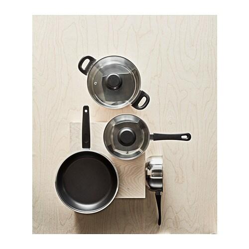 АННОНС Набор кухонной посуды, 3 предметa, стекло, нержавеющ сталь-4