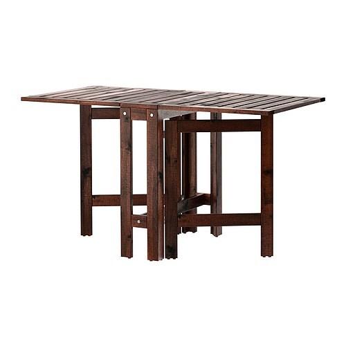 Meble Ogrodowe Ikea Applaro Opinie : ÄPPLARÖ Stół z kozłem, ogrodowy IKEA 2 składane dodatkowe blaty
