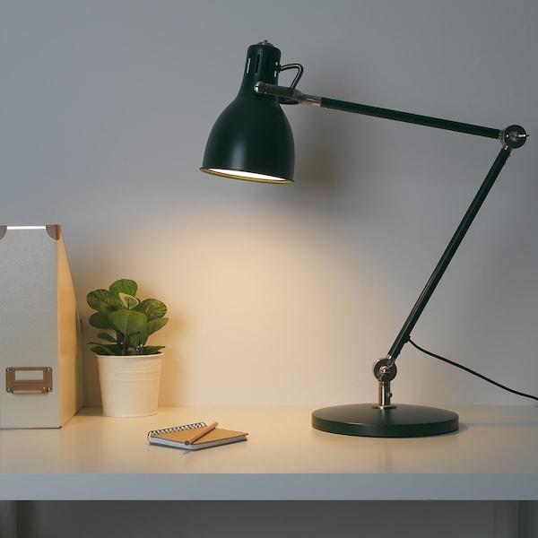 ARÖD lampa biurkowa zielony 13 Wat 53 cm 23 cm 15 cm 1.5 m