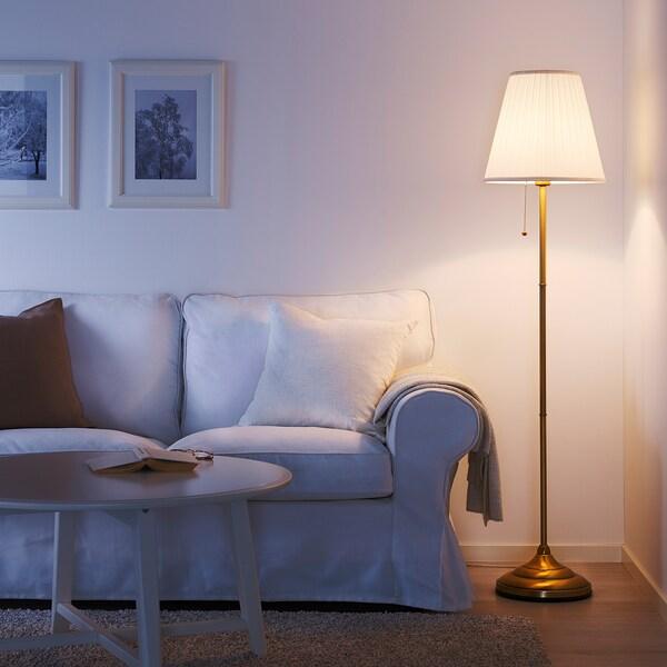 ÅRSTID Lampa podłogowa, mosiądz/biały