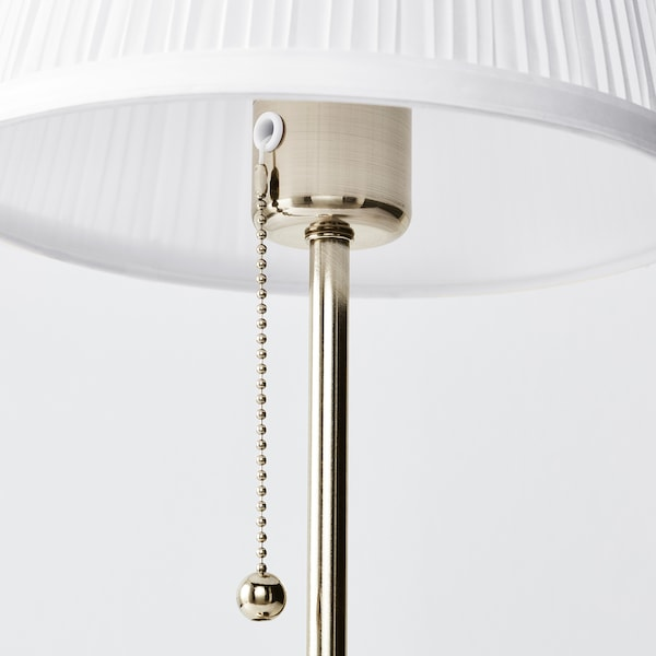 ÅRSTID Lampa stołowa, niklowano/biały