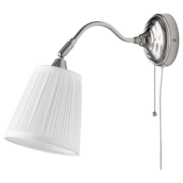 ÅRSTID lampa ścienna niklowano/biały 40 Wat 38 cm 16 cm 2.5 m