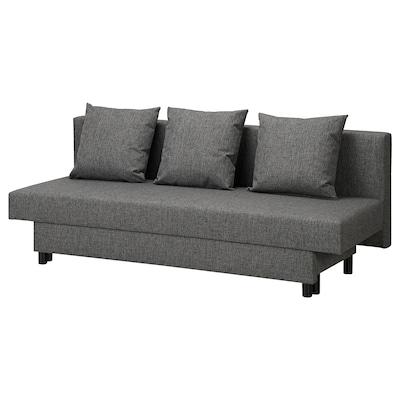 ASARUM Rozkładana sofa 3-osobowa, ciemnoszary