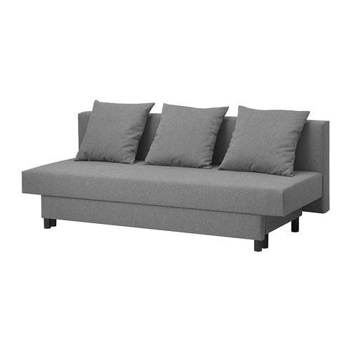 Asarum Sofa Trzyosobowa Rozkładana Szary Ikea