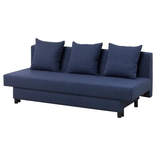 ASARUM sofa trzyosobowa rozkładana granatowy 191 cm 83 cm 75 cm 191 cm 70 cm 40 cm 130 cm 191 cm
