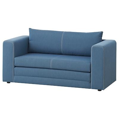 ASKEBY Sofa 2-osobowa rozkładana, Knisa średnioniebieski