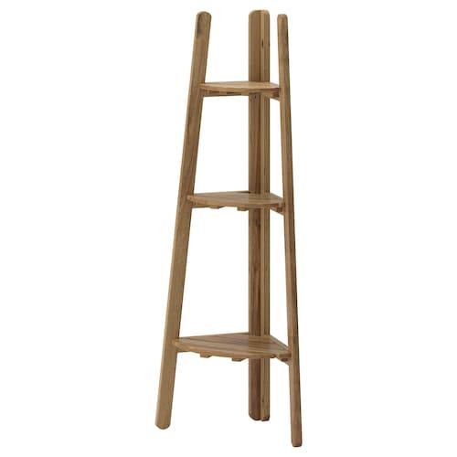 ASKHOLMEN stojak na doniczkę bejca jasnobrązowa 45 cm 32 cm 116 cm