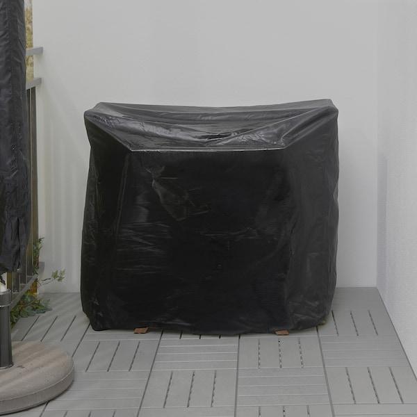 ASKHOLMEN Stół+2 krzesła, na zewnątrz, szarobrązowa bejca/Kuddarna beżowy