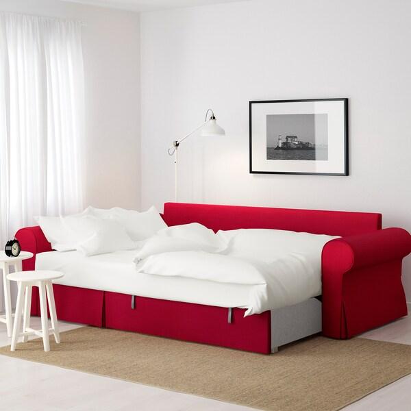 Backabro Narożnik Z Funkcją Spania Nordvalla Czerwony Ikea