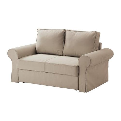 BACKABRO Sofa dwuosobowa rozkładana - Tygelsjö beżowy, - IKEA