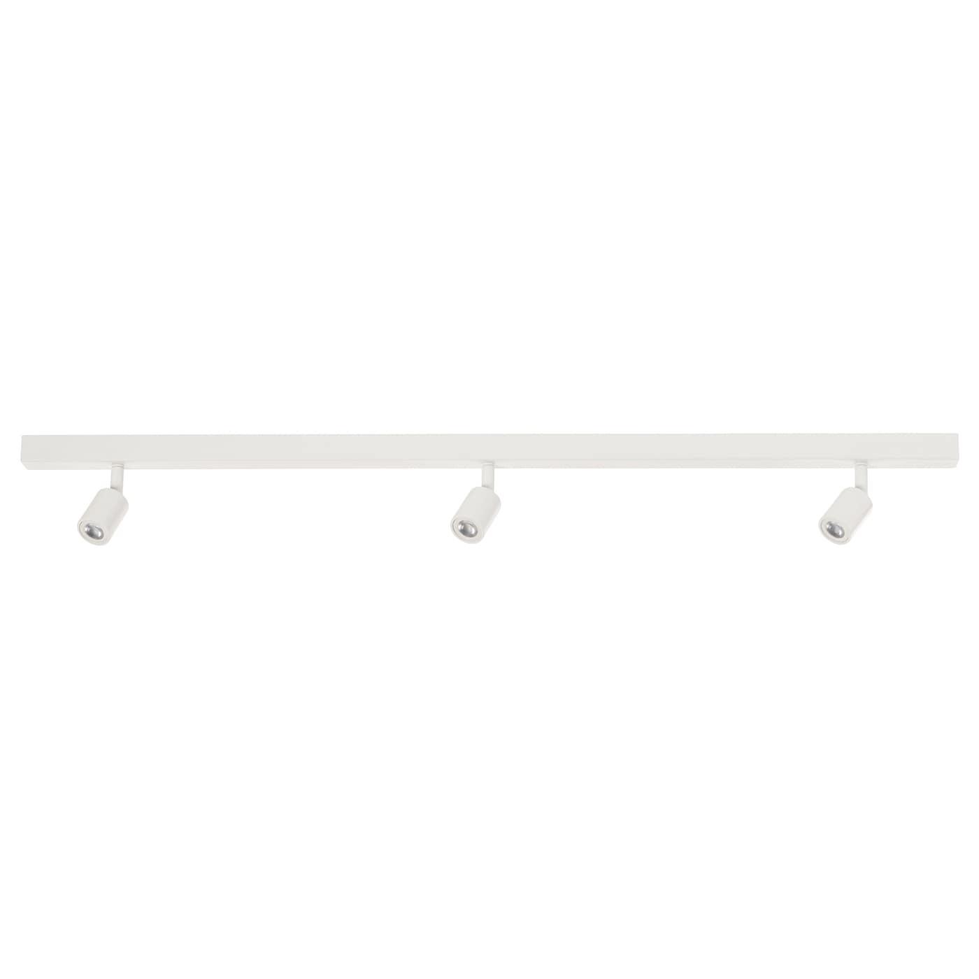 IKEA BÄVE Lampa sufitowa LED, 3 reflektory, biały