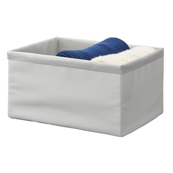 BAXNA Organizer, szary/biały, 26x34x18 cm